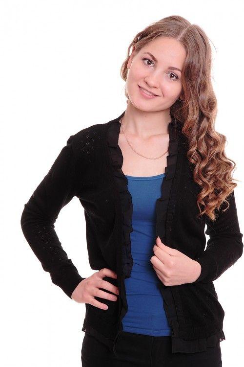 Кардиган А6088 Размеры: 42-44 Цвет: черный Цена: 300 руб.  http://optom24.ru/kardigan-a6088/  #одежда #женщинам #кардиганы #оптом24