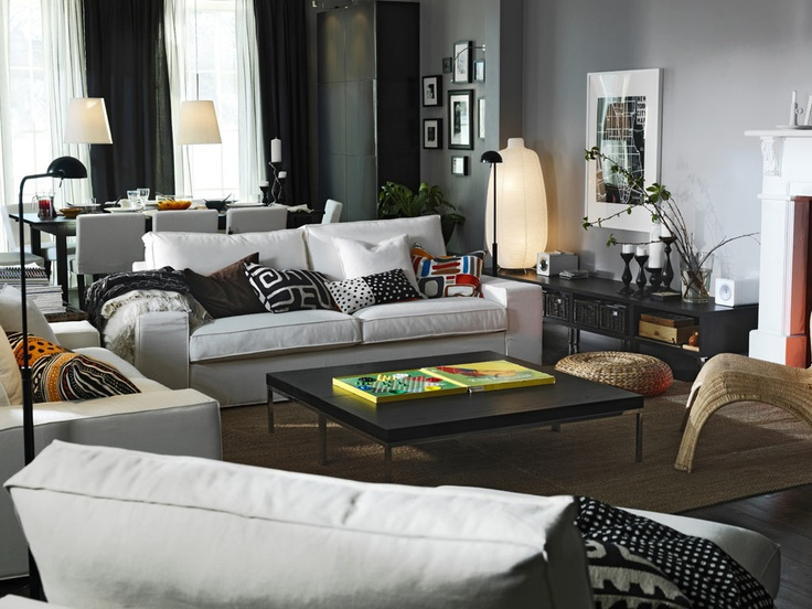 Ideas Living Room Ikea Idea White Sofa Family Room Room Design