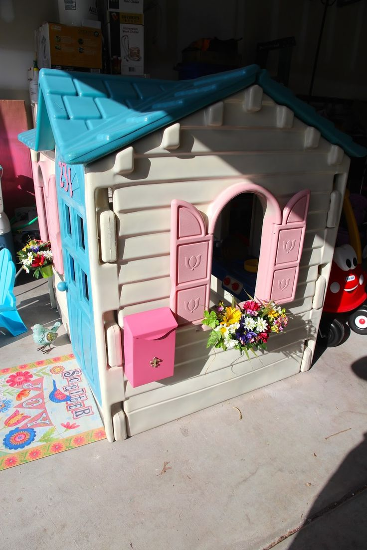 Brand new, the outdoor plastic playhouses can be quite