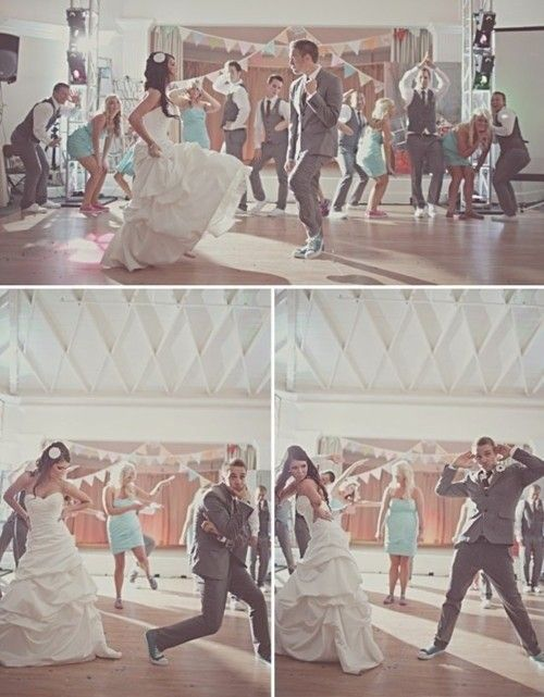 'Invite all of the married couples onto the dance floor. The DJ announces years of marriage in five-year increments and the couples sit down when they hear theirs called. At the end of the song, the couple that has been married the longest remains and provides words of wisdom for a long, happy marriage.'[source: Pinterest]
