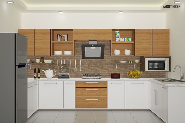 best 25 u shape kitchen ideas on pinterest small i With best brand of paint for kitchen cabinets with heart shaped stickers