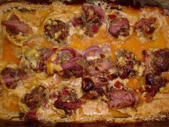 Gevulde Champignons Met Feta, Gehakt, Bacon En In Kaassaus recept | Smulweb.nl