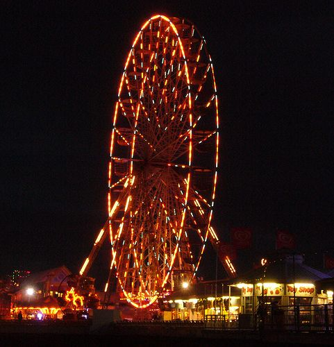 Blackpool wheel at night