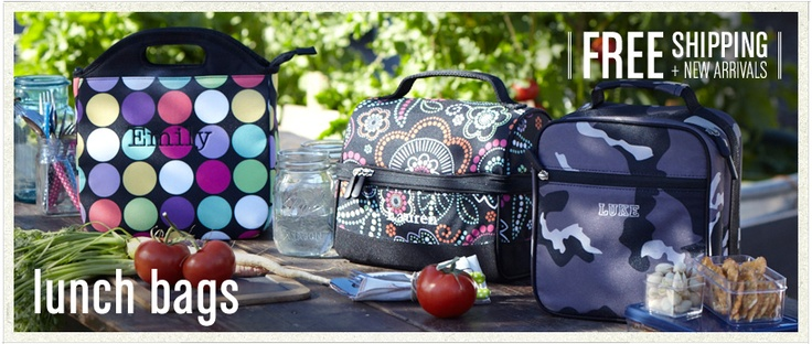 Personalized lunch boxes.
