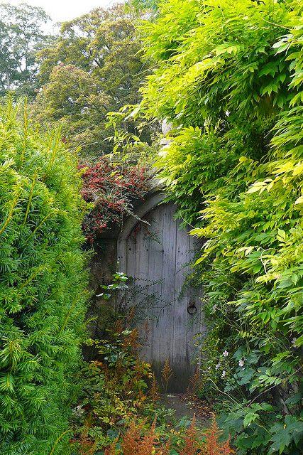 Secret Garden gate in Castle Combe, Wiltshire