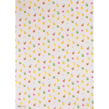 PS Exclusive wrapping paper sheet, perfect for summer parties. Blush background with tiny tropical drinks.<br><br>Flat Sheet - 19 x 27