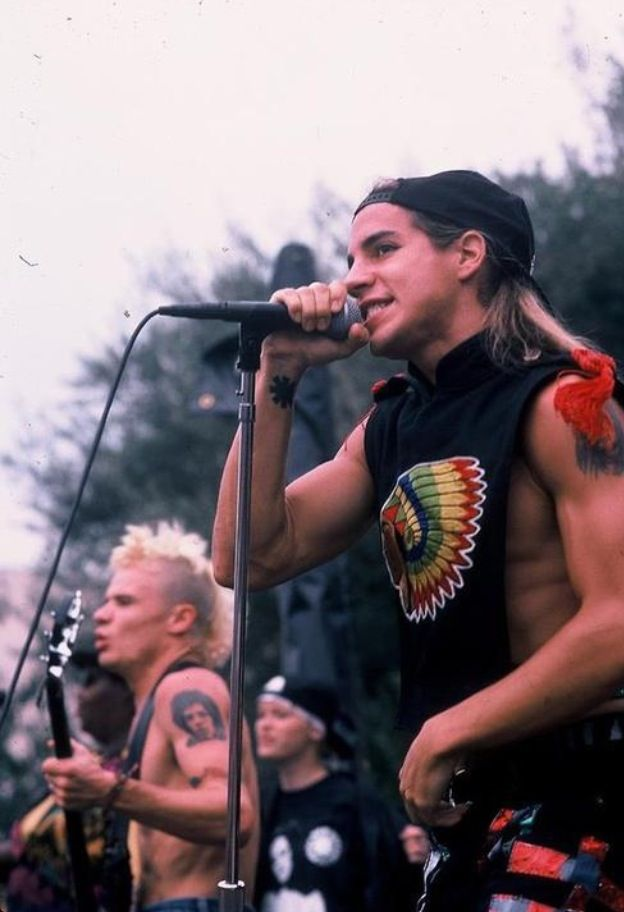 Red Hot Chili Peppers. How young do they look!