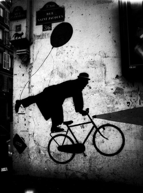 Stanko Abadzic, Bicycle art on wall, 2008