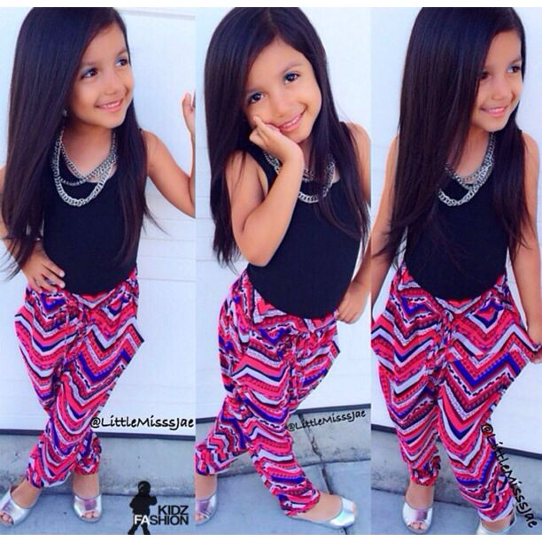 such cute pants for the mini #chevron #party #pants <3 and with pockets…she's ready 2 rock