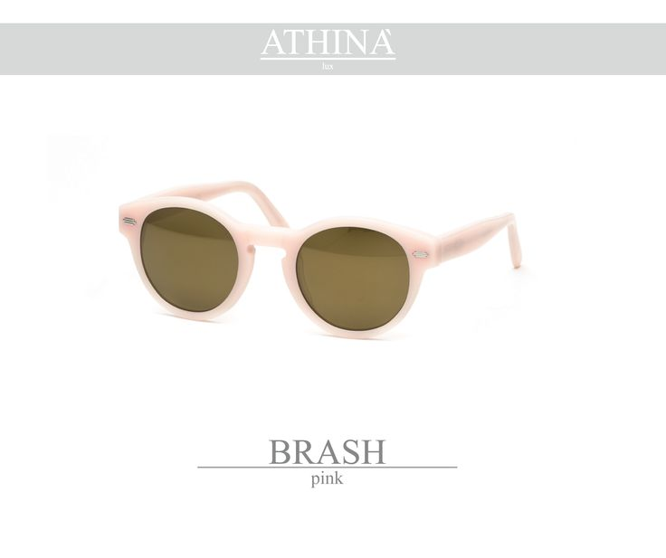 Mod. BRA1111M05 Made with light, ancient pink coloured acetate of cellulose and mirror gold lenses.
