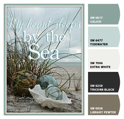 "Coastal color pallet ""chip it -Sherwin Williams"""