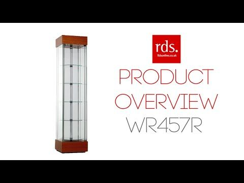WR457R Revolving Trophy Cabinet - Tall Wooden Cabinets - Wooden Cabinets Range - Display Cabinets