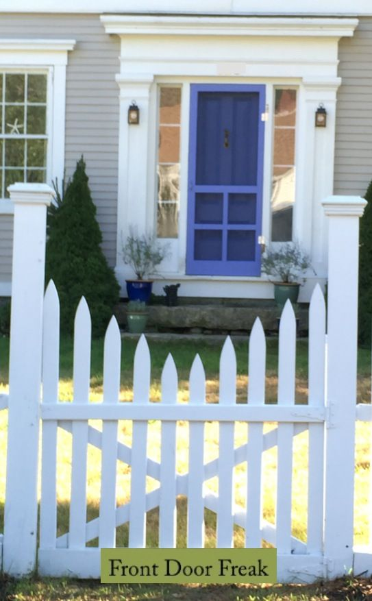 This pretty periwinkle front door was too pretty not to share so.I share one more front door from Maine. & 50 best Screen Doors images on Pinterest   Screen doors Woodworking ...
