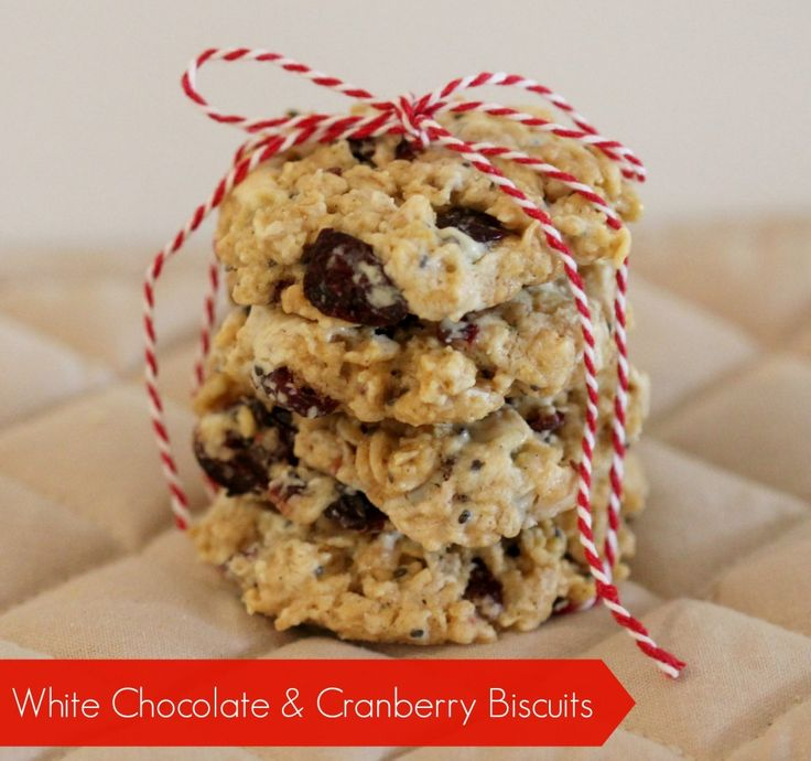 White Chocolate and Cranberry Biscuits  #thermomix #recipe #christmas