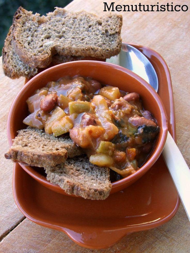 La zuppa della nonna: patate, zucca, fagiolini, ponodori - by Menù turistico