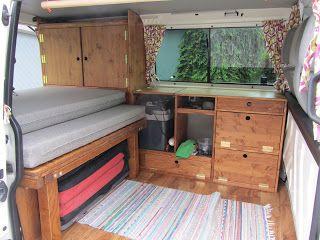 transporter interior with bouldering mat :)