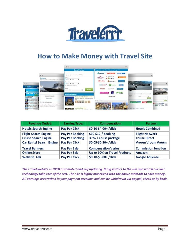 travel-affiliate-program-how-to-make-money-with-travel-site by Katherine Page via Slideshare