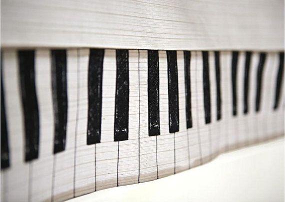 Cotton Linen Fabric Cloth -DIY Cloth Art Manual Cloth -Piano Notes Instruments Cloth