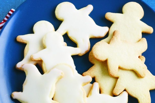 Biscuit men with lemon icing main image