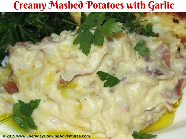 Alton Brown's Creamy Garlic Mashed Potatoes ©EverydayCookingAdventures