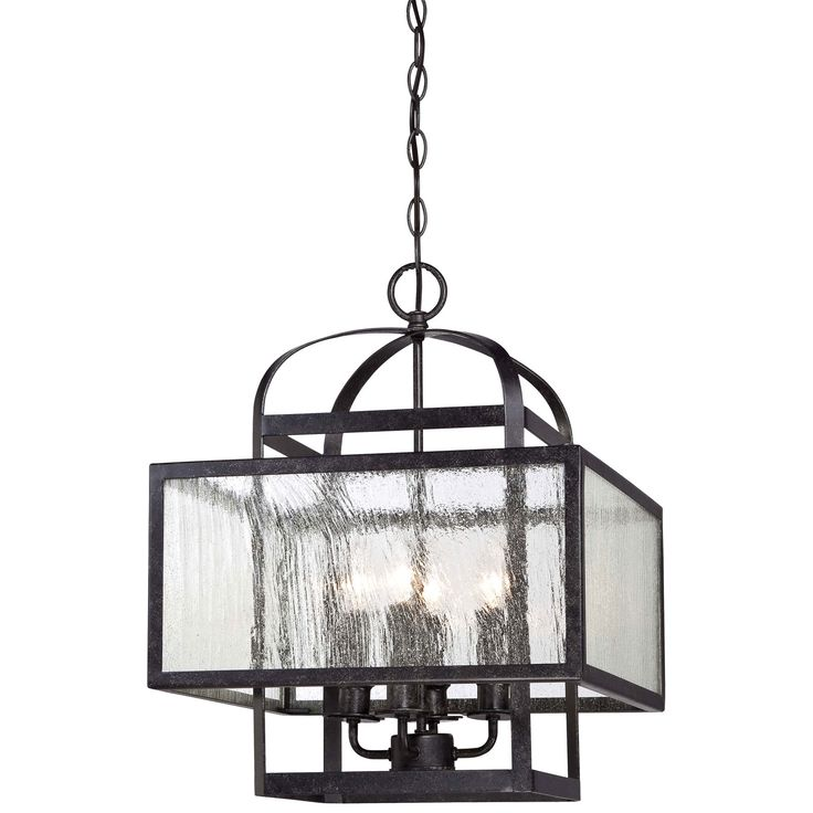 Minka Lavery Camden Square Aged Charcoal Four Light Mini Chandelier On SALE