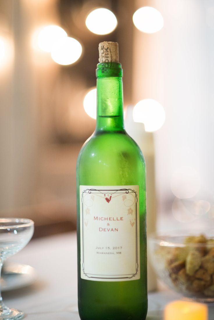 Corked wine with custom label #vistaprint #chardonnay