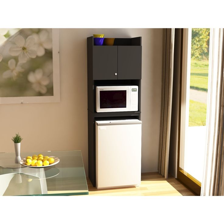 Ameriwood Home Black Stipple Refrigerator Storage Cabinet  Closet Organizer  Dorm room