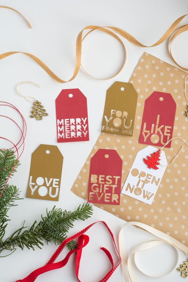 Holiday Gift Tags with Cricut • this heart of mine