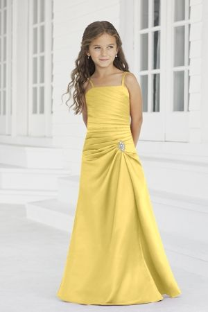 Satin A-line,Ruching,Sweetheart Style 38 Junior Bridesmaid Dress by Alexia Designs