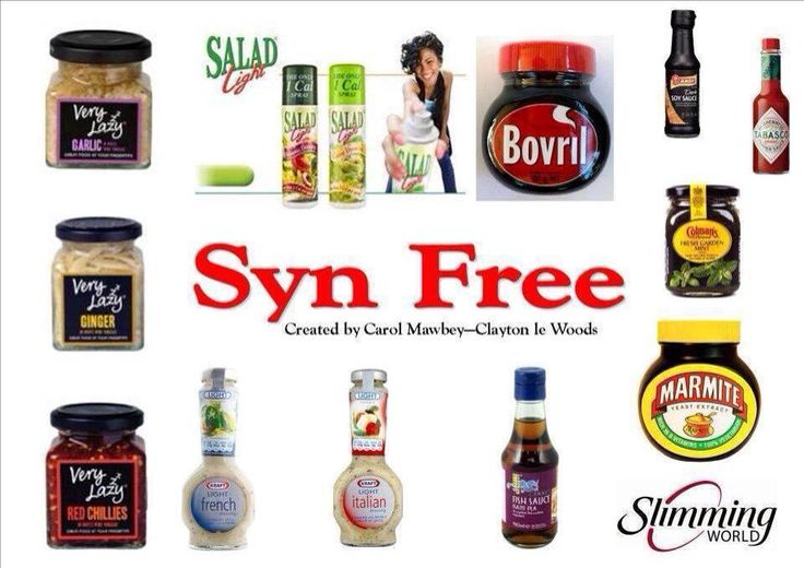 Syn free #SLIMMING WORLD More