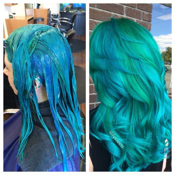 scissor-happy:  Trust the process  #lyssdidmyhair #imakemermaids #mermaidhair  (at Hair by Alyssa Wiener)