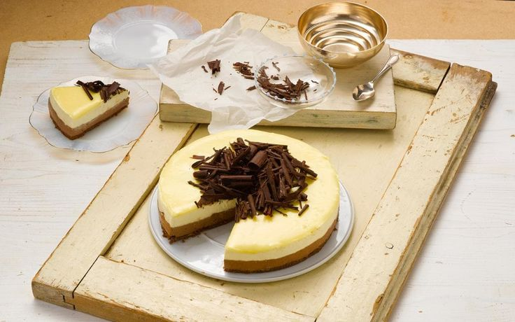 The combination of three types of chocolate and creamy Philadelphia make this cheesecake a deliciously spectacular crowd-pleaser