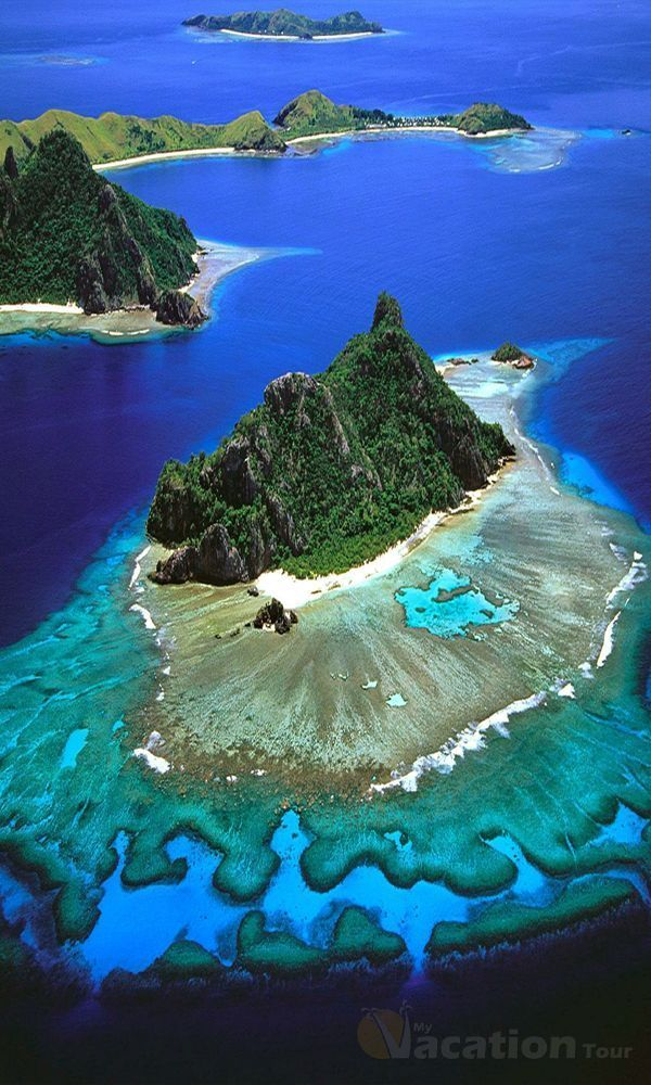 Mamanuca Islands, Fiji are a volcanic archipelago to the west of Nadi and to the south of Yasawa Islands
