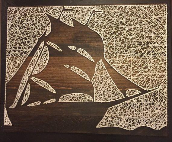 Ship Silhouette String Art от StringKits на Etsy