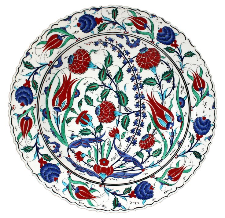 Multicolor Handmade Turkish Plate on Chairish.com