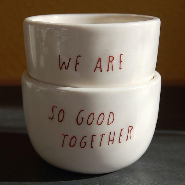 """Good Together"" bowl set by Pigeon Toe Ceramics, $56.00"