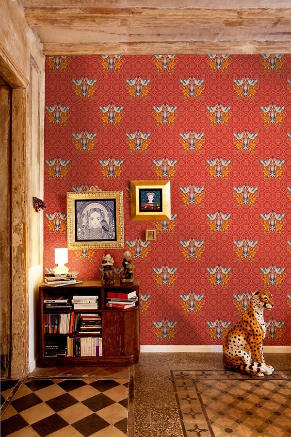 Catalina Estrada wallpaper with tiled floors and other patterns