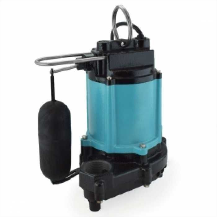 10EC-CIA-SFS Automatic Sump/Effluent Pump w/ Vertical Float Switch and 20' cord, 1/2 HP, 115V
