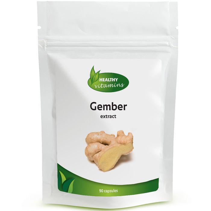 #Gember is een wortel dat in veel landen gebruikt wordt om de spijsvertering te stimuleren. Gember kan ook goed gebruikt worden om de doorbloeding te bevorderen in het lichaam, bij o.a. koude handen en voeten. De gember capsules van Vitaminesperpost.nl bevatten maar liefst 500 mg gember poeder. Geschikt voor vegetariërs. Prijs per 90 capsules: €18,95