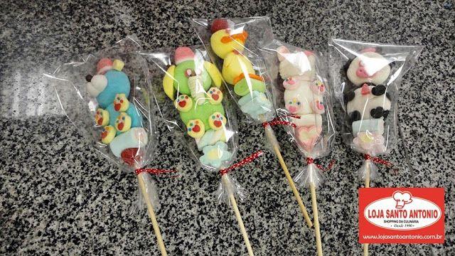 Loja Santo Antonio: Curso de Pirulitos de Marshmallow decorados com a Fini!