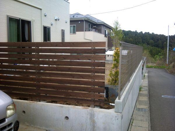 【WOODPRO楽天】シンプル横板フェンス