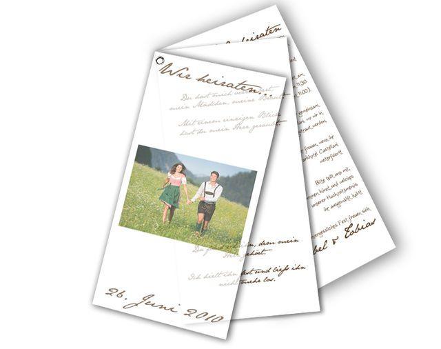 Ösen-Hochzeitseinladungen - Einfach alles außer gewöhnlich