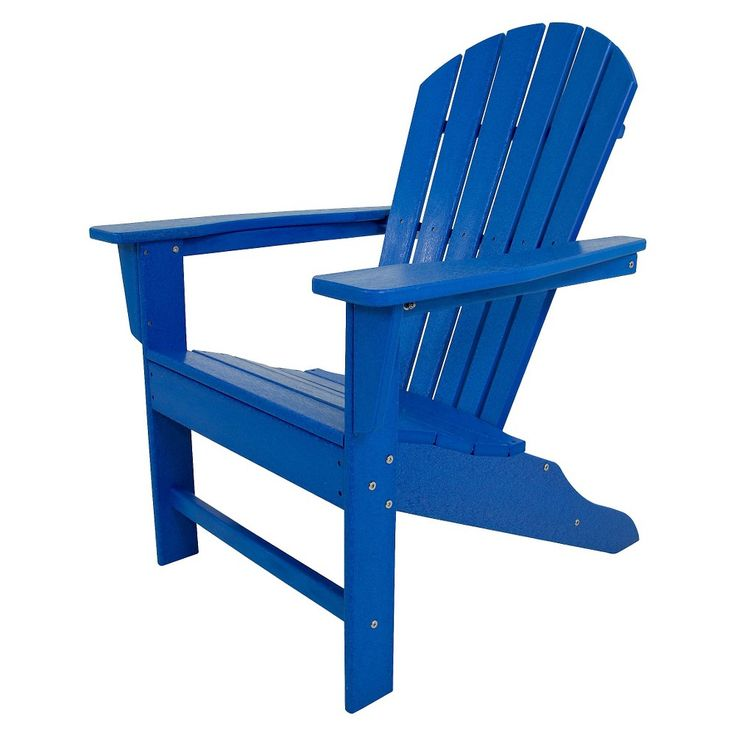 South Beach Patio Adirondack Chair - Pacific Blue - Polywood