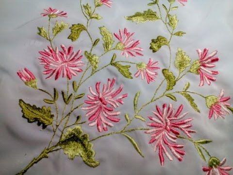 Вышивка Хризантемы