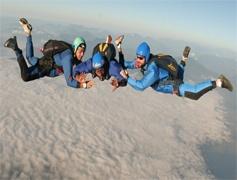 skydive over Everest