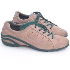 38 ✪ ECCO Sneaker Loafer Turnschuhe Damenschuhe Echtleder Grün Beige Lederfutter
