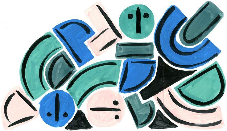 """Melton"", original artwork by Erja Hirvi for Samuji SS17"