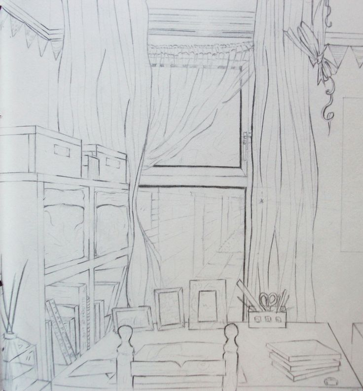 observational line study of my uni room http://jennycarsonpaul.blogspot.co.uk