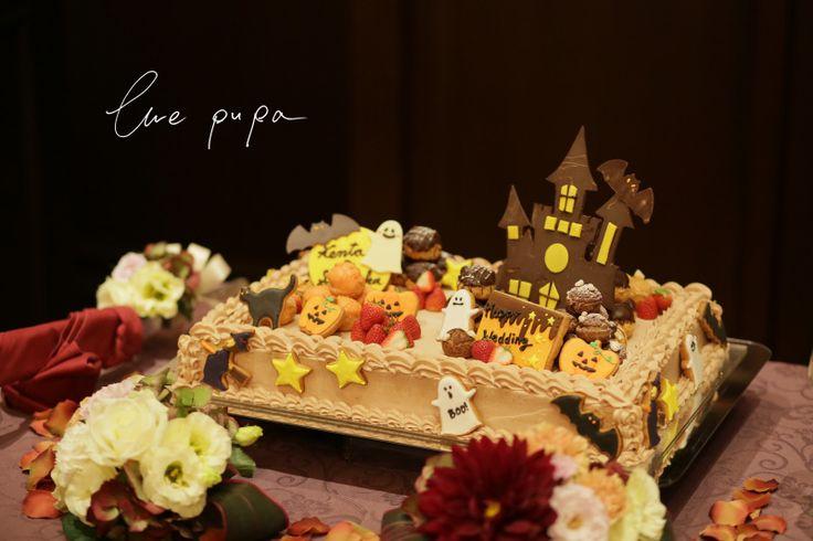 【撮影レポート】ウェディングケーキ × ハロウィン |*ウェディングフォト elle pupa blog*
