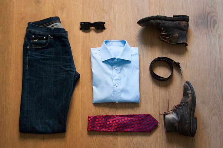 A stylish weekend outfit built around our LIGHT BLUE POP QUEEN SHIRT http://www.marchettiatelier.com/